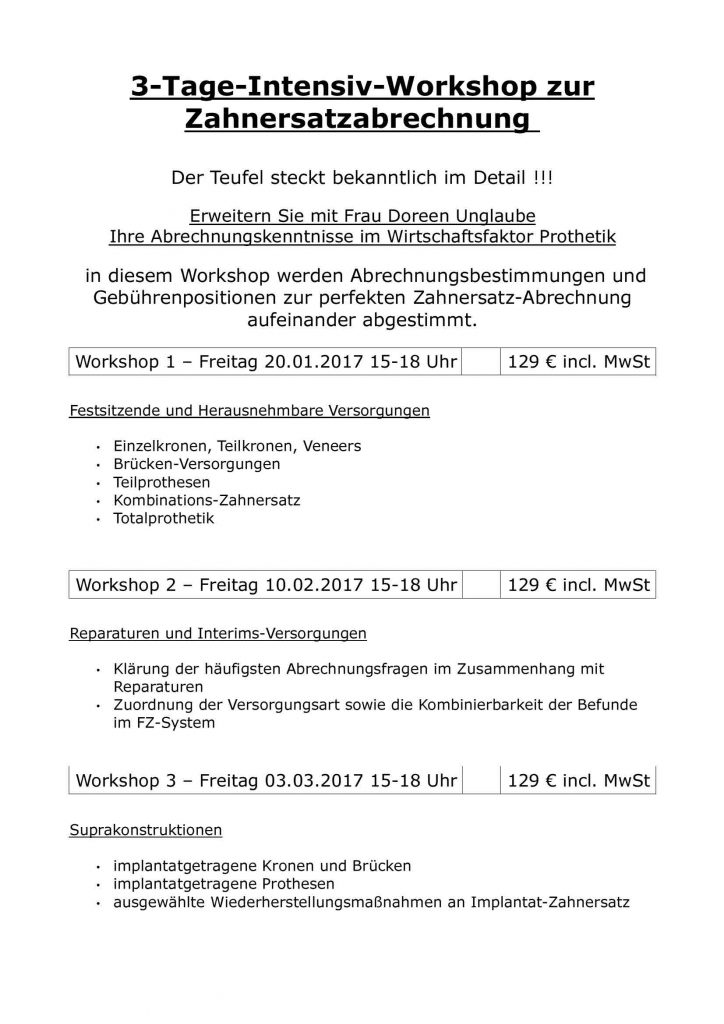 ZE Workshops 2017